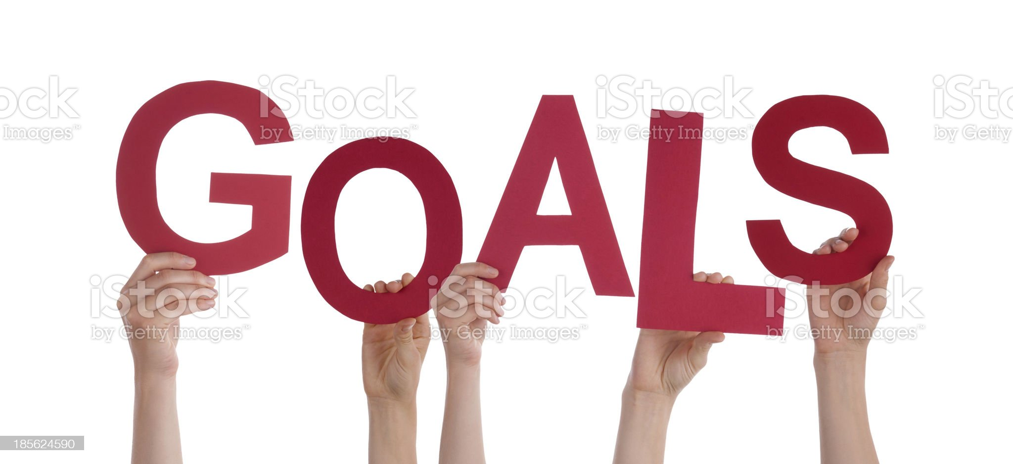 Hands Holding Goals royalty-free stock photo