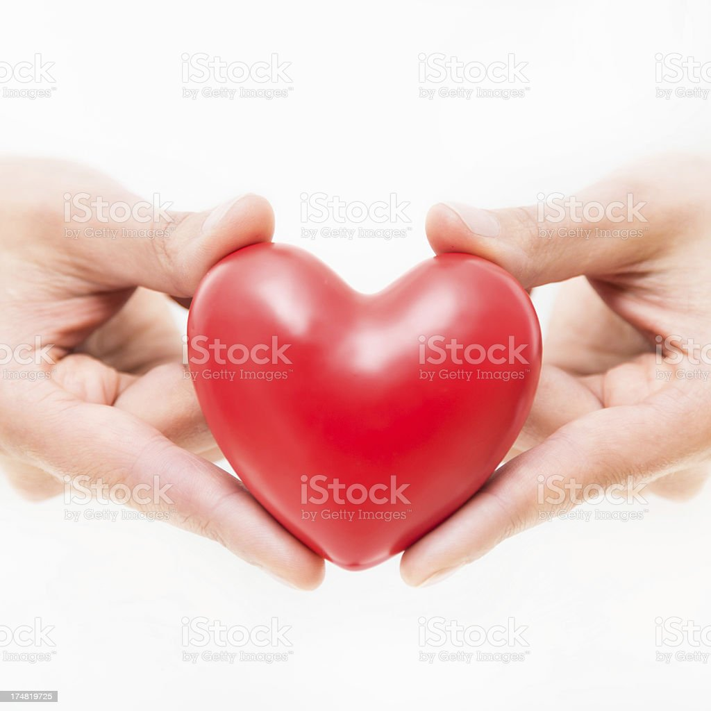 Hands Holding Heart royalty-free stock photo