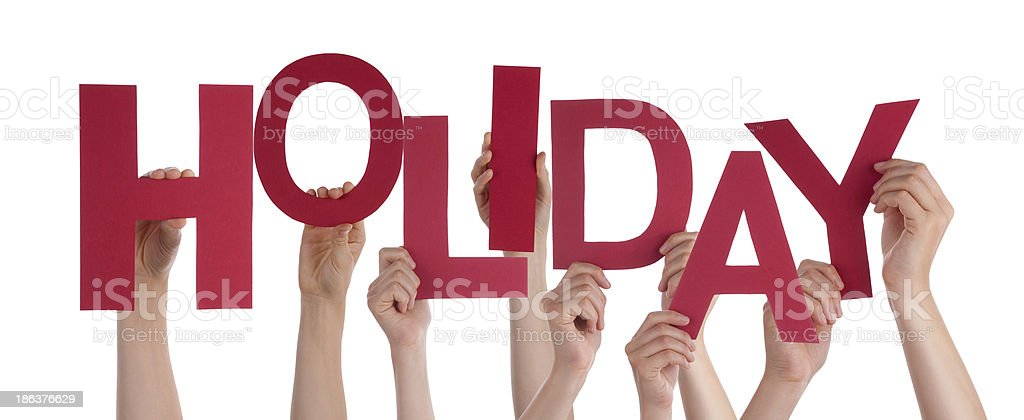 Hands Holding Holiday stock photo