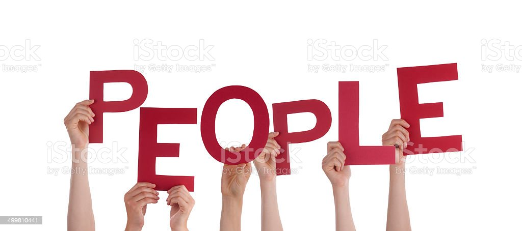 Hands Holding People stock photo