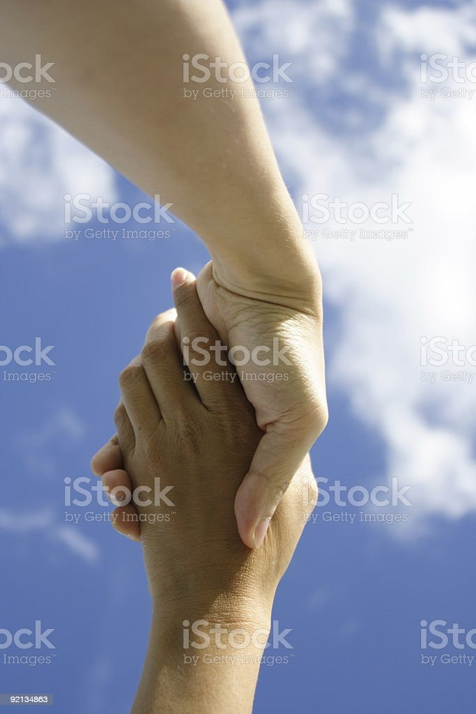 Hands holding stock photo