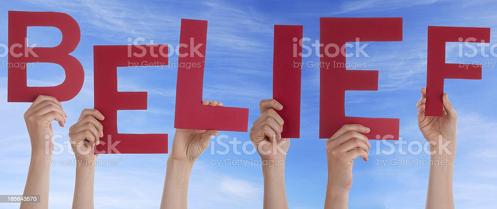 Hands Holding Red Belief royalty-free stock photo