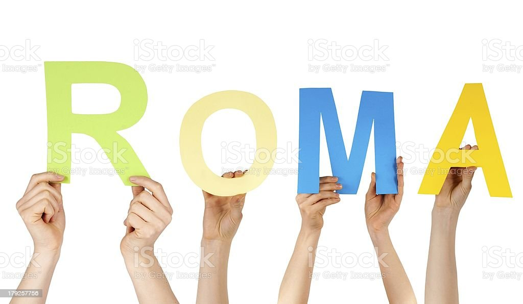 hands holding Roma royalty-free stock photo