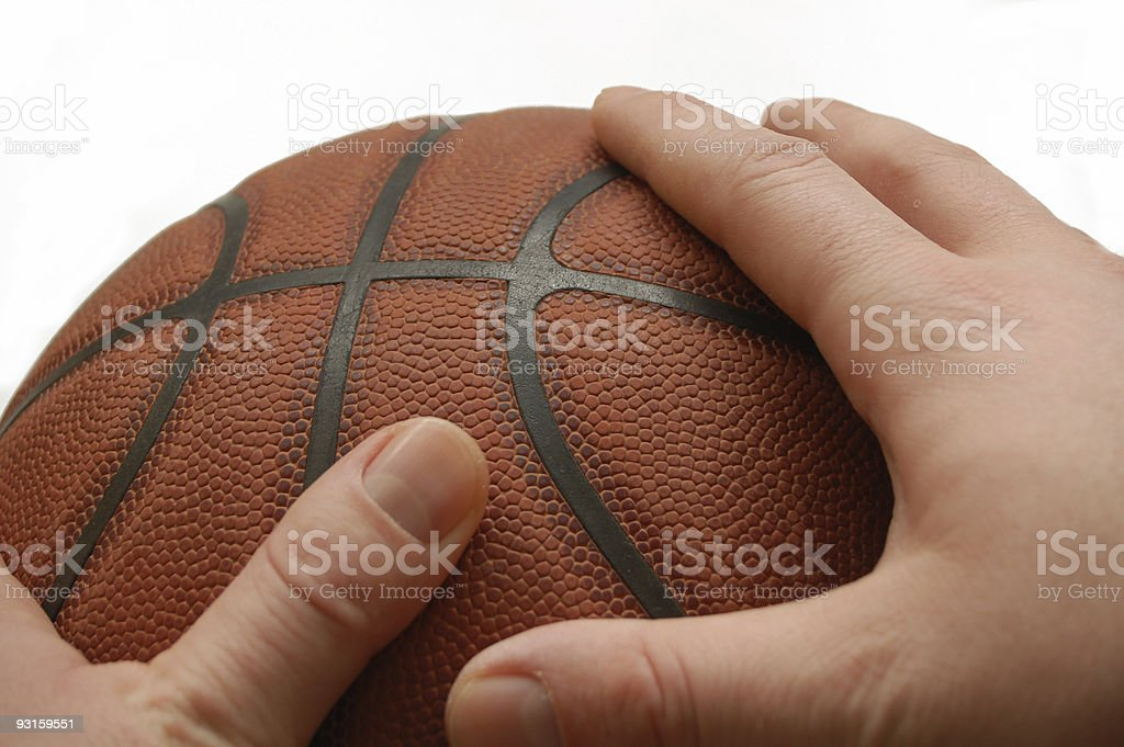 hands holds basket ball #3 stock photo