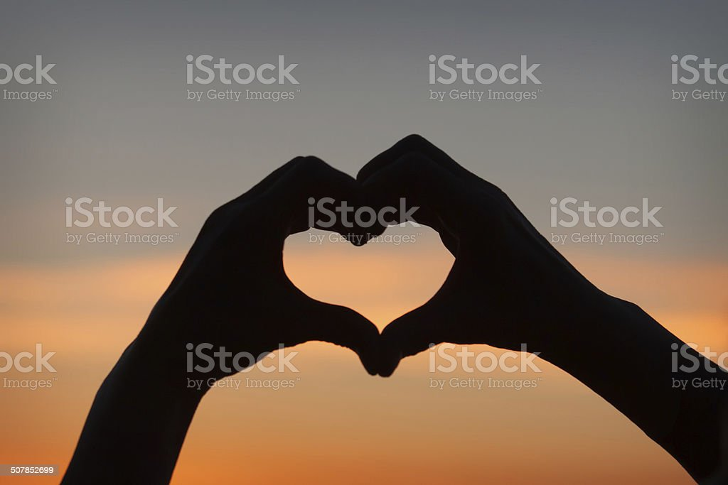 Hands in heart shape royalty-free stock photo