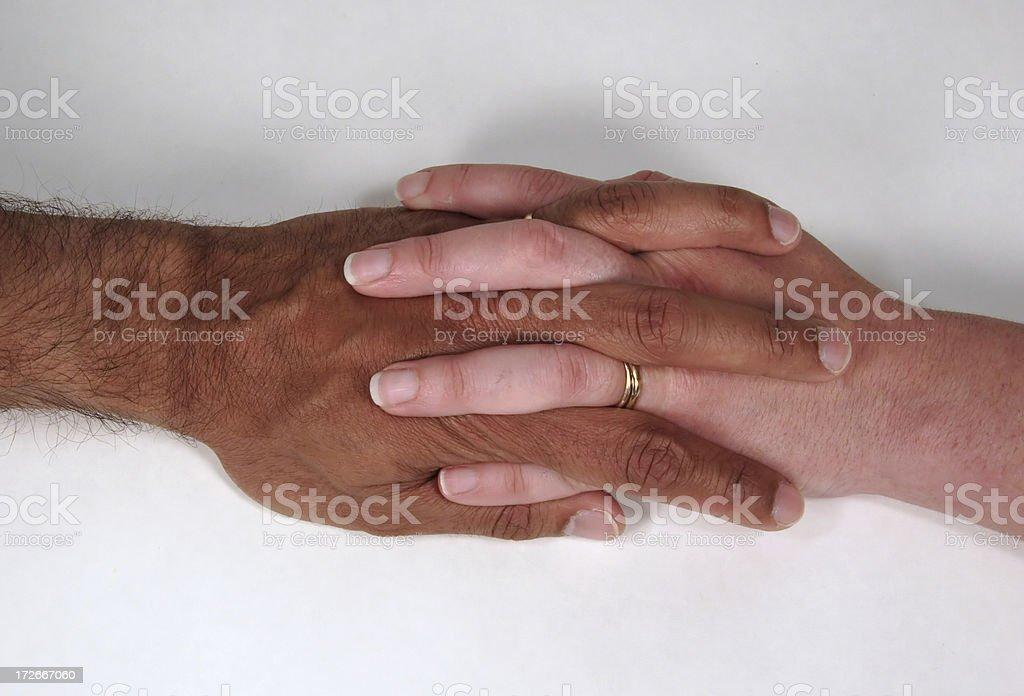 Hands in Love stock photo