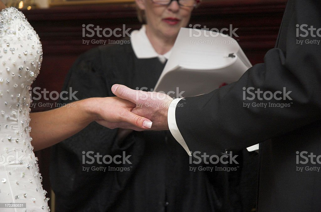 Hands In Marriage stock photo