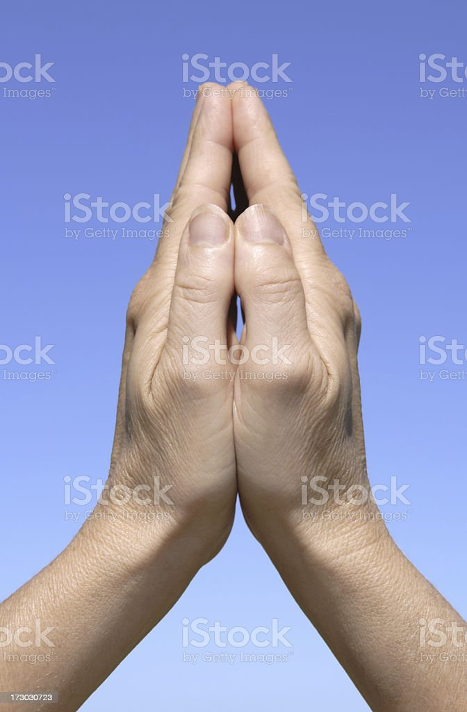 Hands in Prayer Gesture royalty-free stock photo