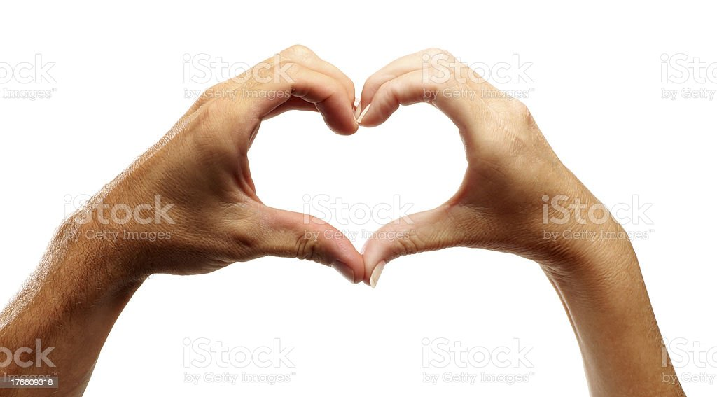 Hands in the Shape of a Heart stock photo