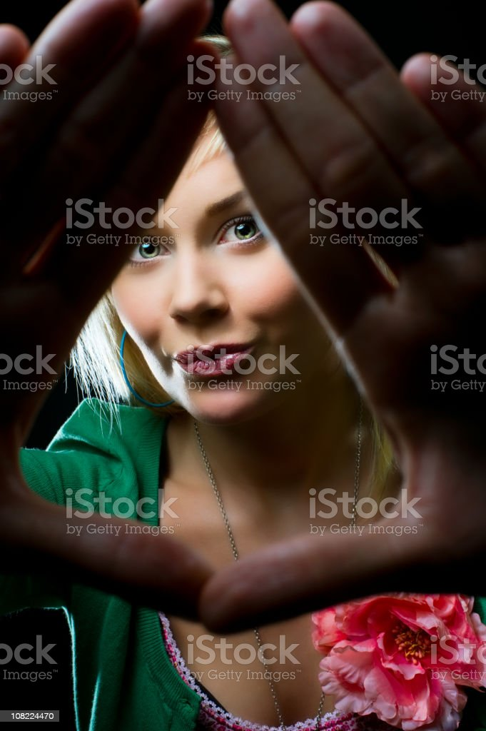 Hands in the way royalty-free stock photo