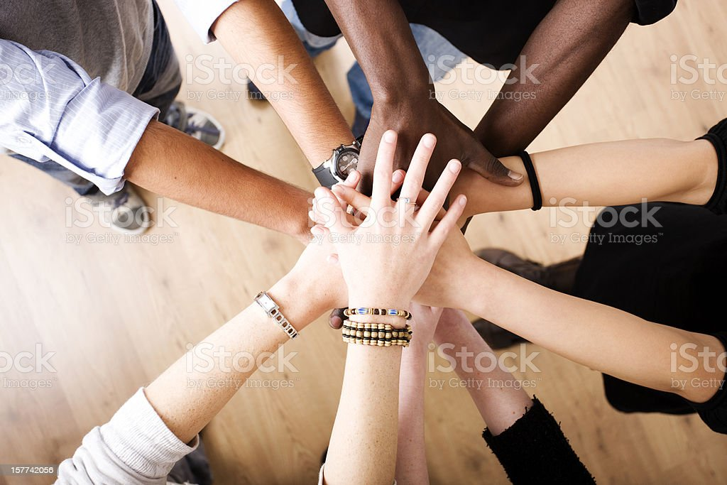 Hands in unity stock photo