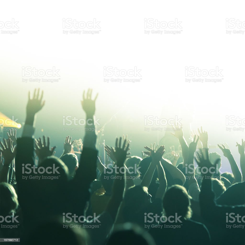 Hands in Worship stock photo