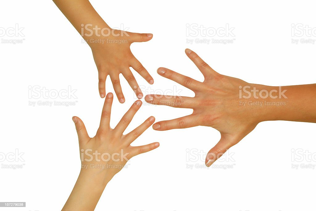 hands: isolated family sizes royalty-free stock photo