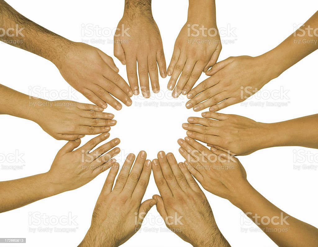hands: isolated human group royalty-free stock photo