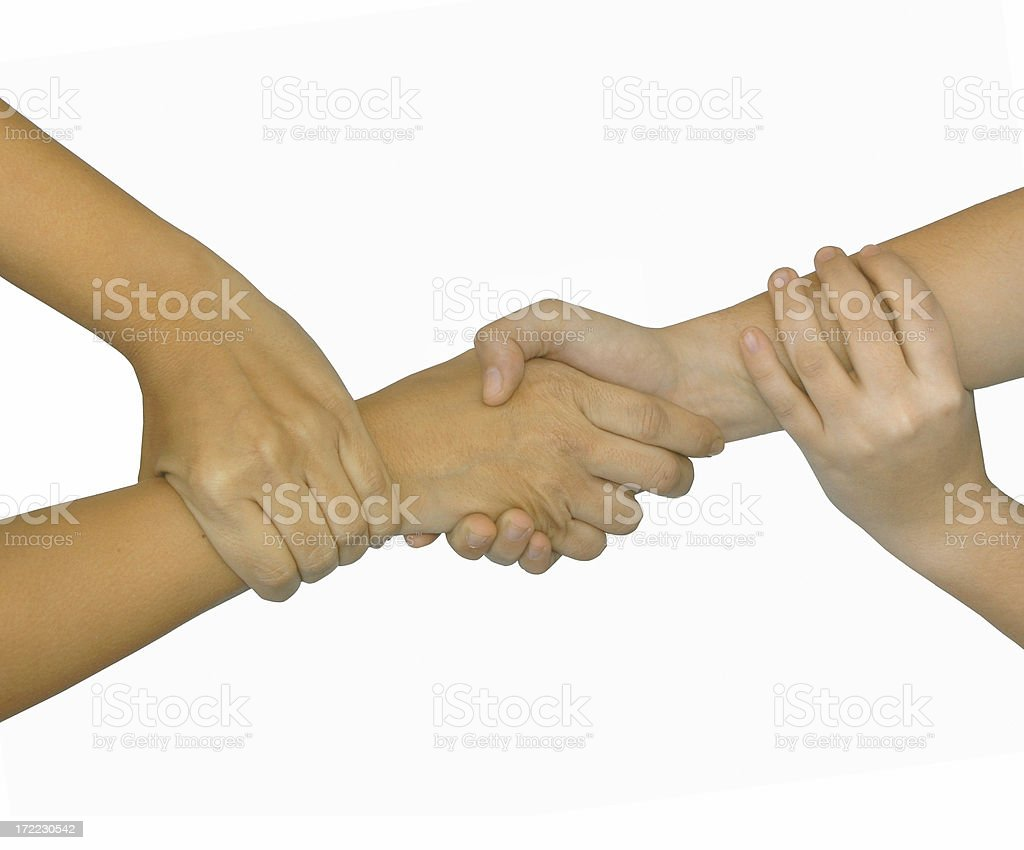 hands: isolated human team stock photo