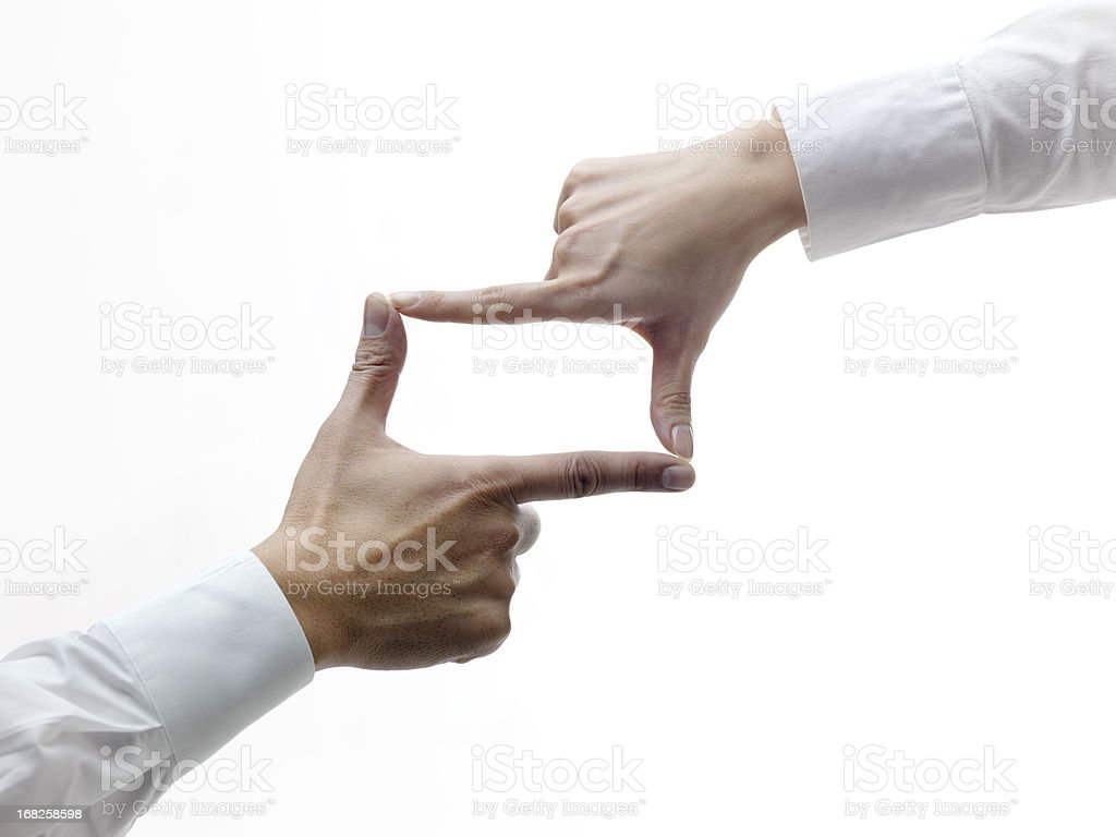 Hands making frame royalty-free stock photo