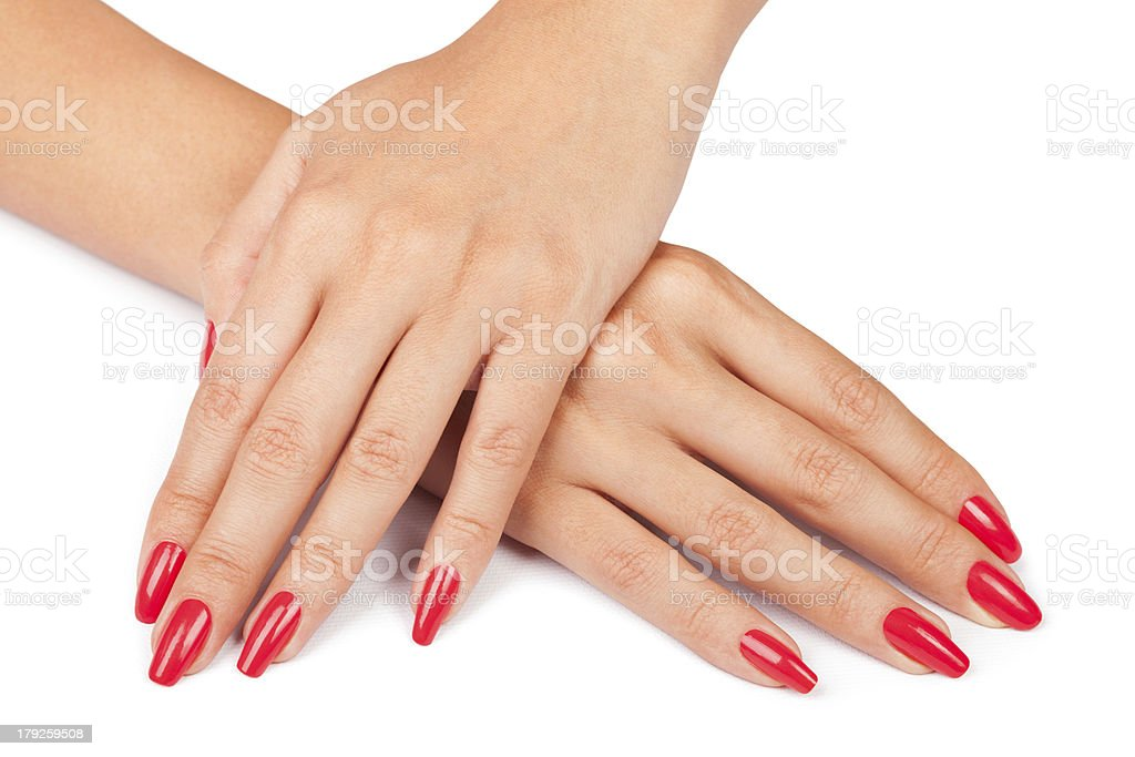 hands manicure stock photo