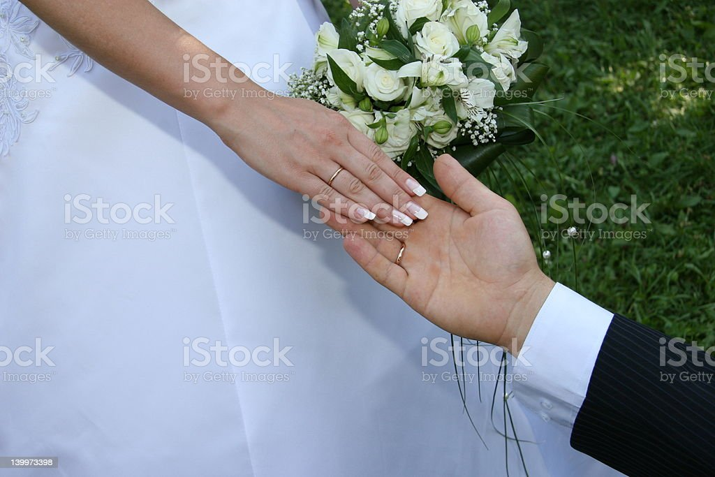 Hands married royalty-free stock photo