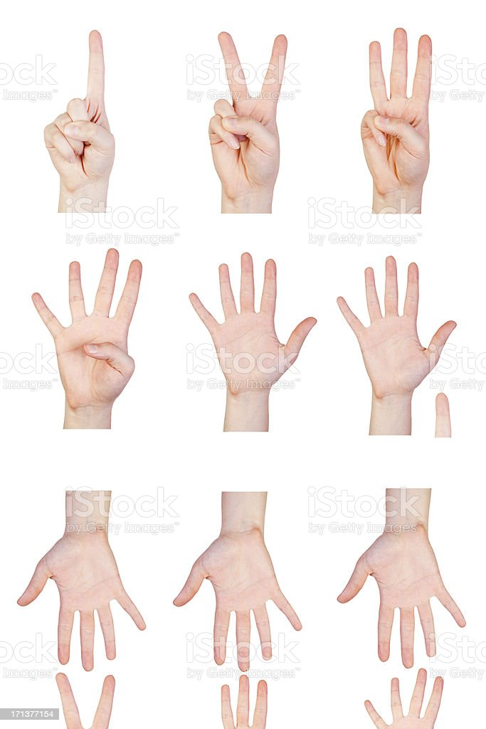 Hands & Numbers royalty-free stock photo