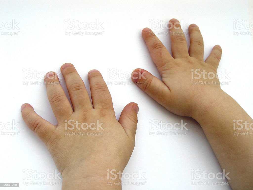 Hands of a Child royalty-free stock photo