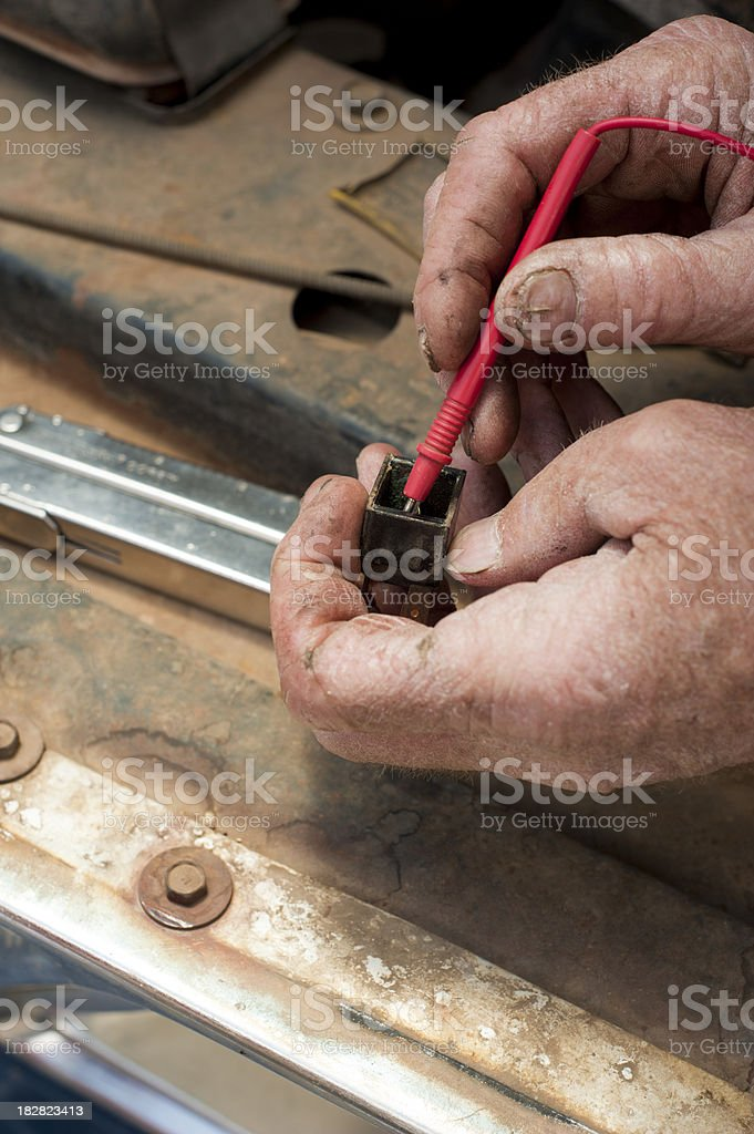 Hands of a Mechanic stock photo