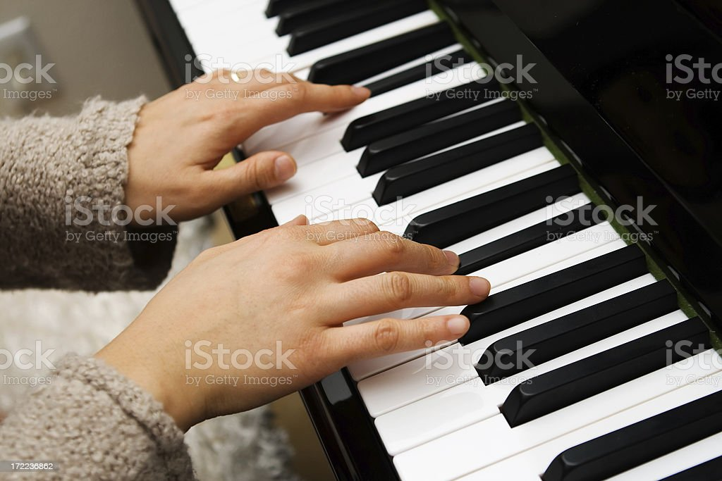 Hands of a Pianist royalty-free stock photo