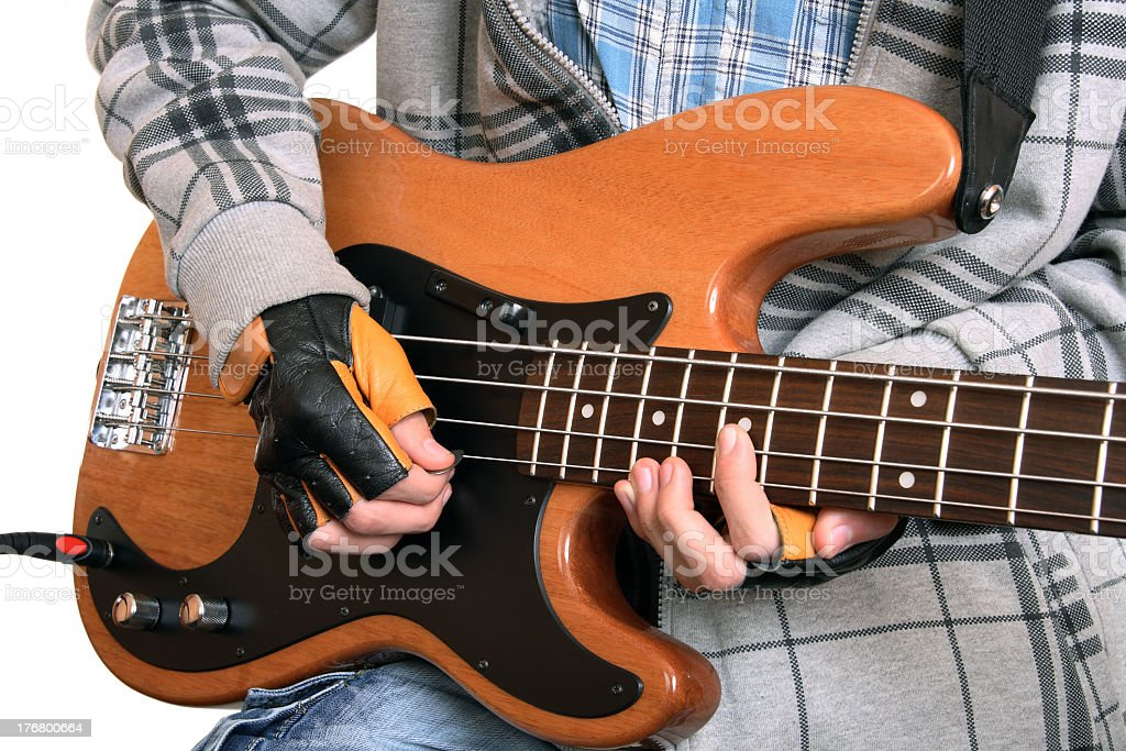 Hands of a rock musician royalty-free stock photo