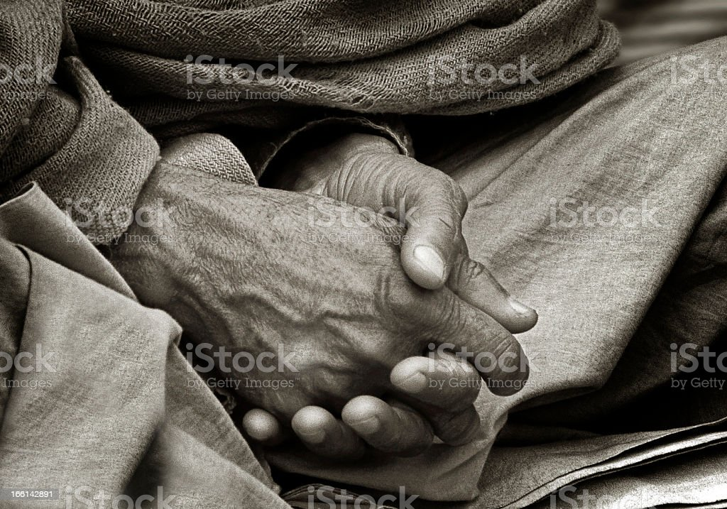 Hands of a Yogi royalty-free stock photo