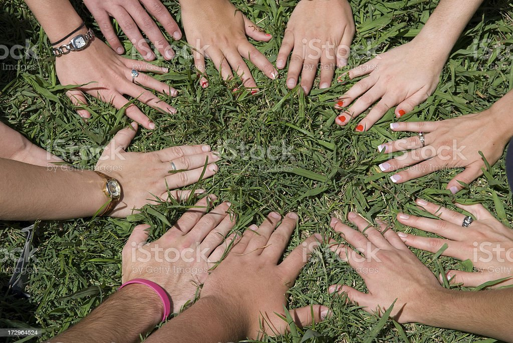 Hands Of A Youth Group royalty-free stock photo