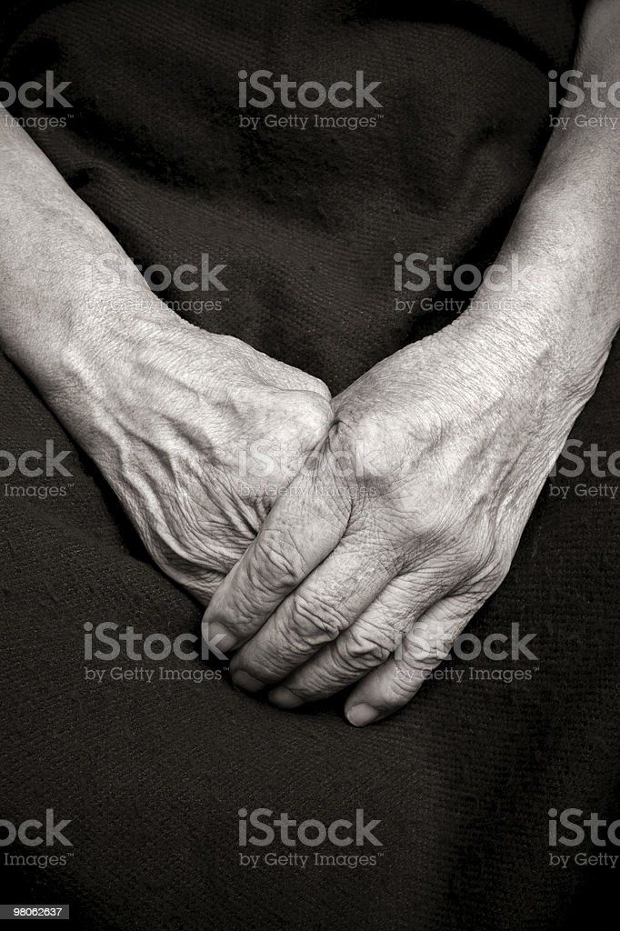 Hands of an old woman royalty-free stock photo