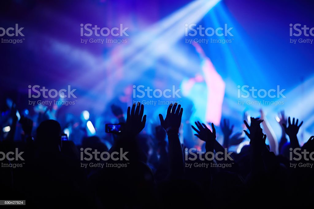 Hands of crowd stock photo