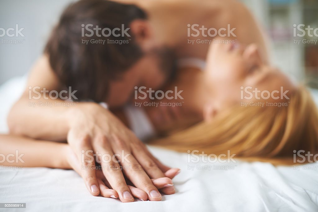 Hands of lovers stock photo