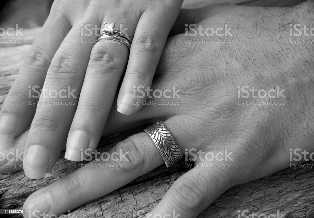 Hands of Marriage stock photo