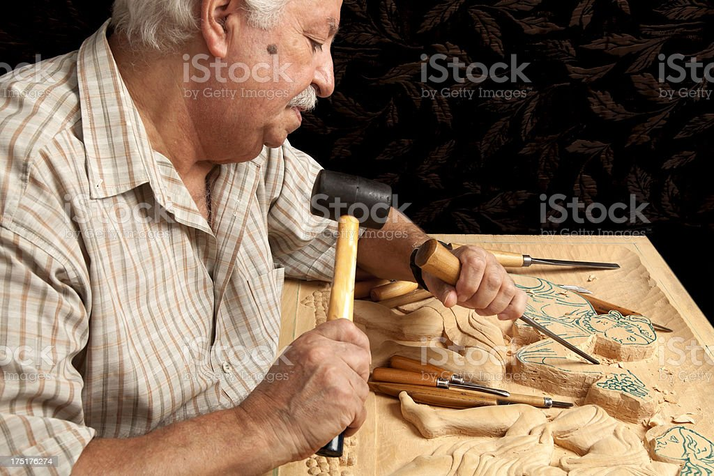 hands of  master royalty-free stock photo