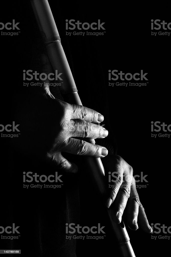 Hands of musician stock photo