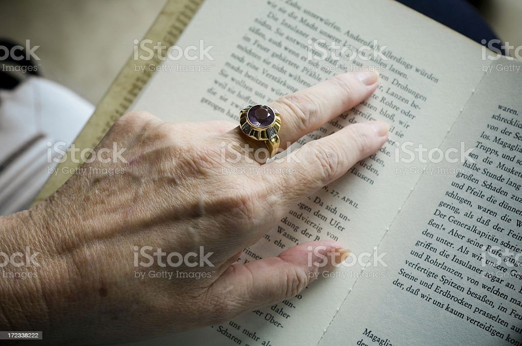 Hands of old woman royalty-free stock photo