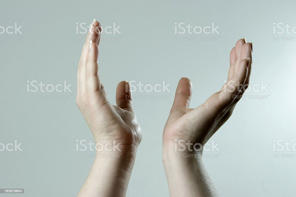 Hands of praise royalty-free stock photo