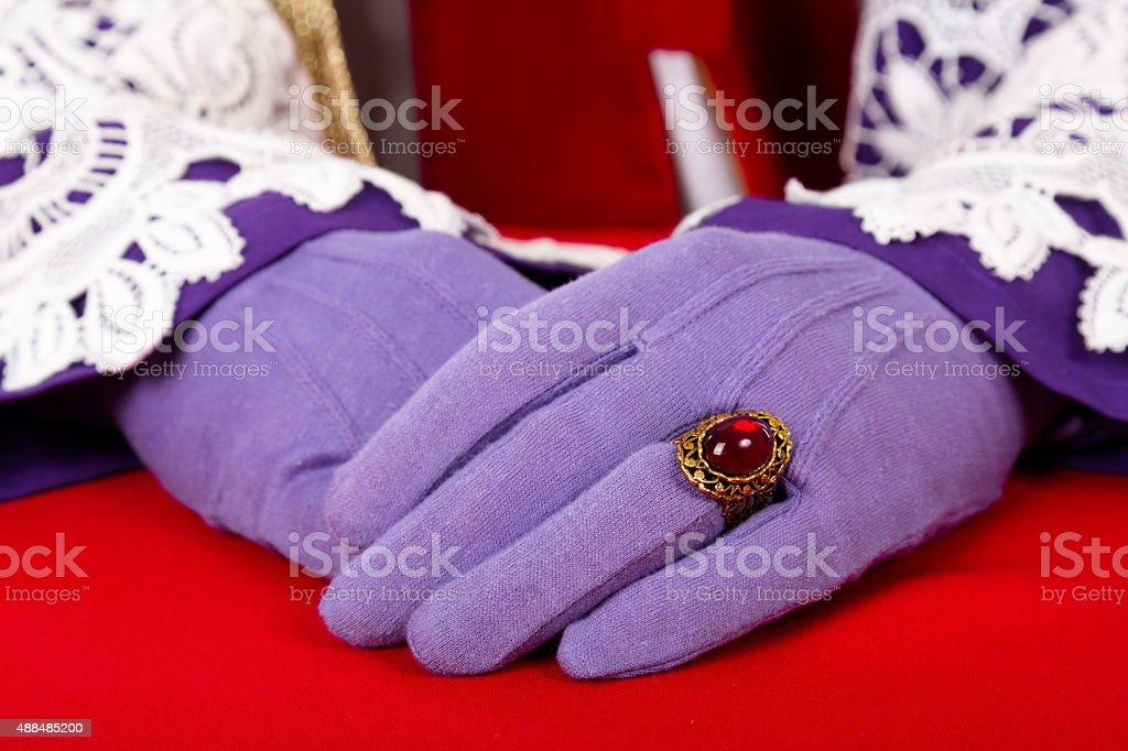 hands of Sinterklaas stock photo