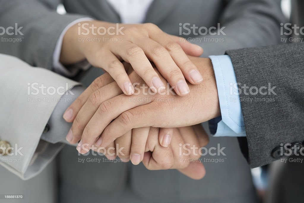 Hands of support royalty-free stock photo