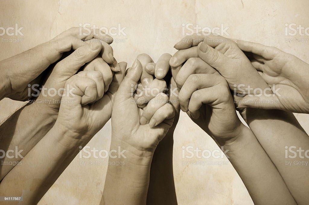 Hands of team stock photo