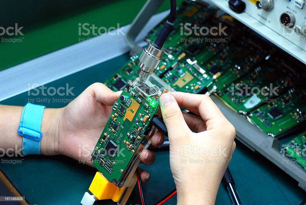 Hands of test royalty-free stock photo