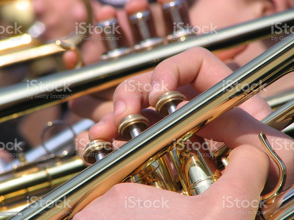 Hands of the musician stock photo