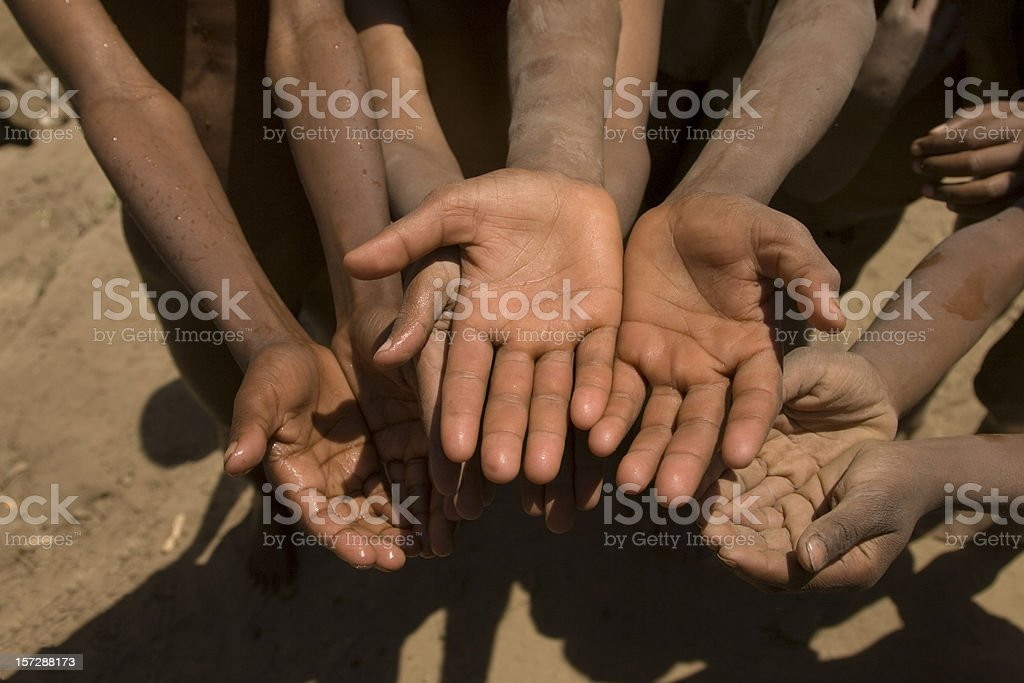 Hands of the poor royalty-free stock photo