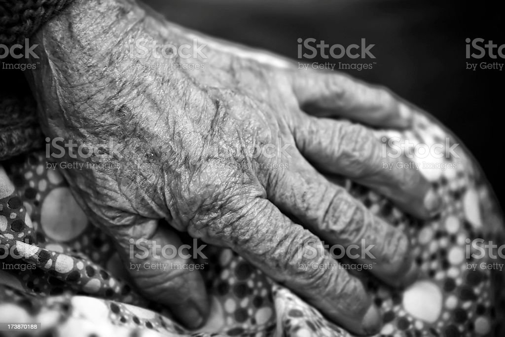 Hands of the senior lady royalty-free stock photo