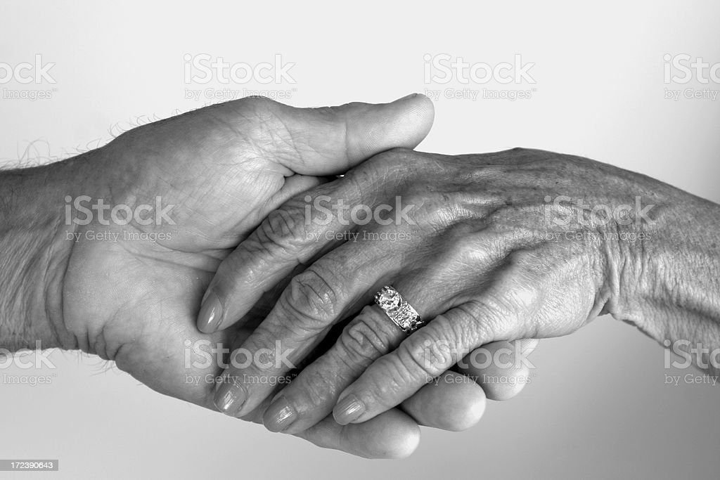 Hands of time stock photo