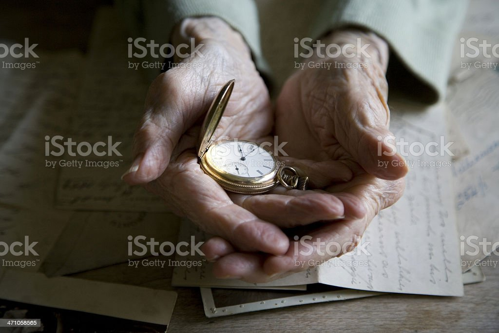 Hands of time royalty-free stock photo