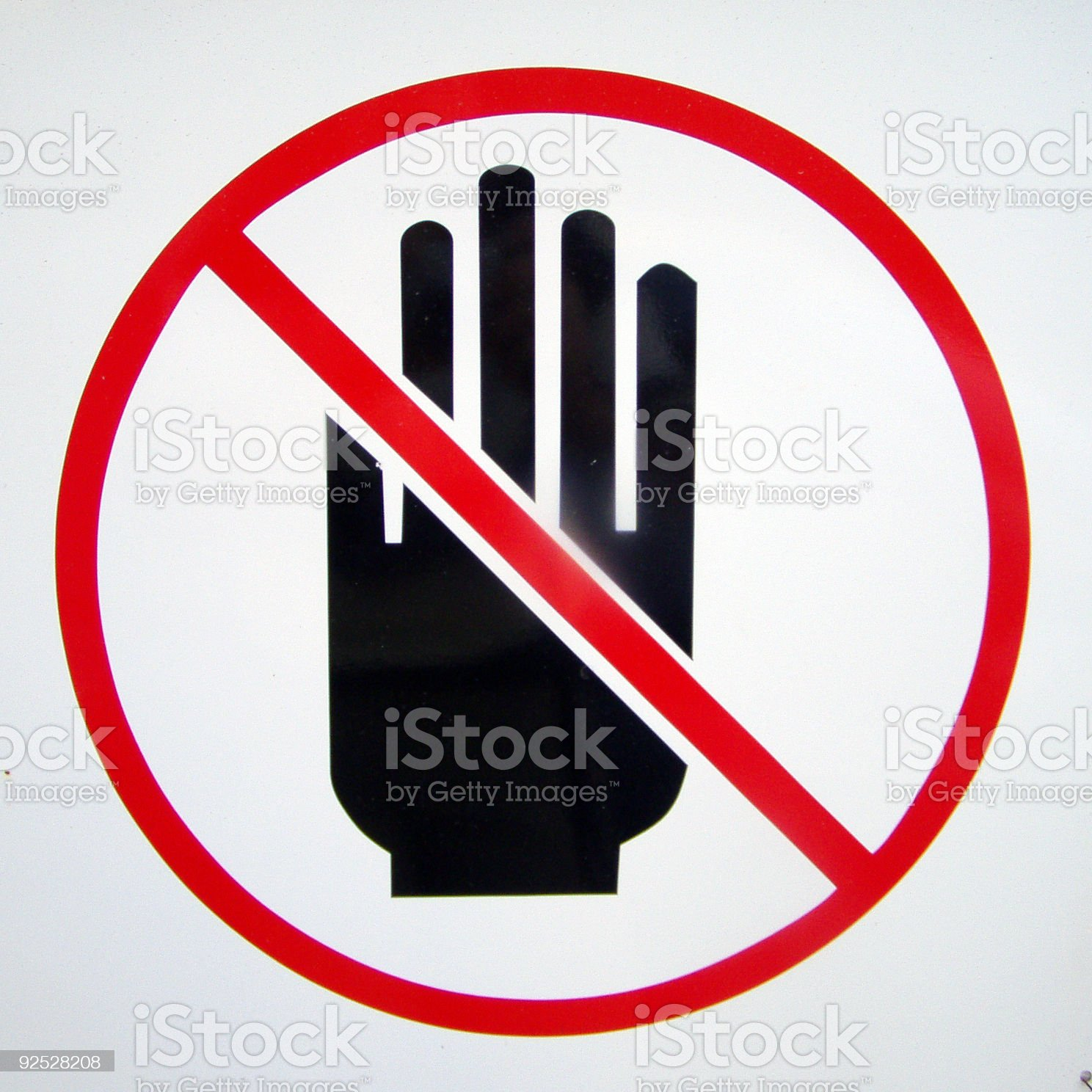 Hands off sign royalty-free stock photo