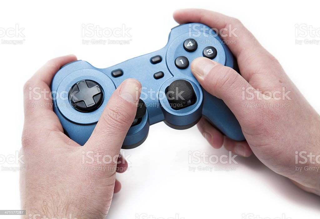hands on an generic gamepad royalty-free stock photo