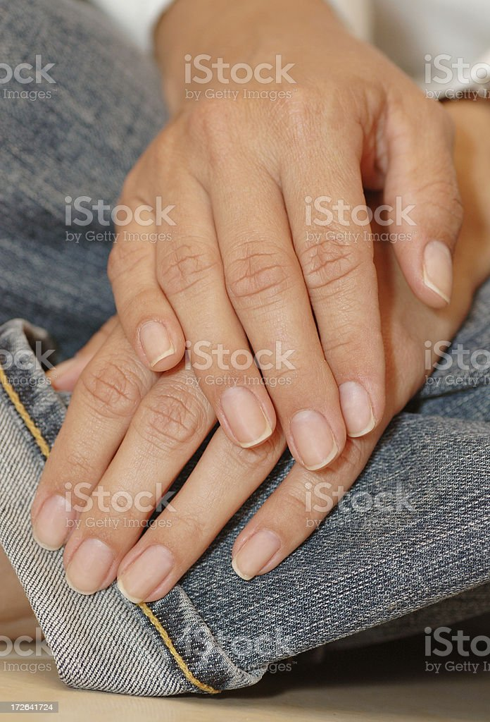 hands on jeans royalty-free stock photo