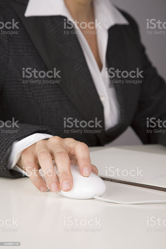 Hands on mouse royalty-free stock photo